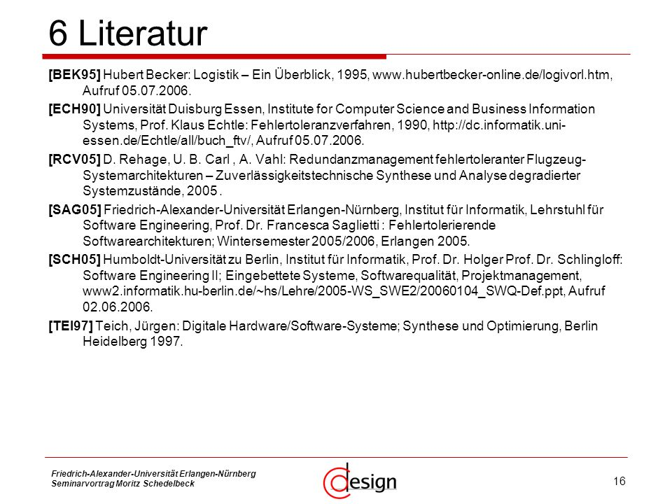 6 Literatur 7 Literatur Strukturfunktionsgenerierung