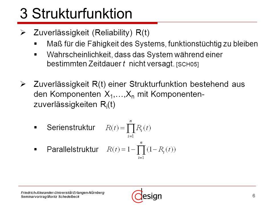 3 Strukturfunktion Zuverlässigkeit (Reliability) R(t)