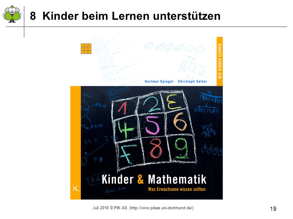 8 Kinder beim Lernen unterstützen