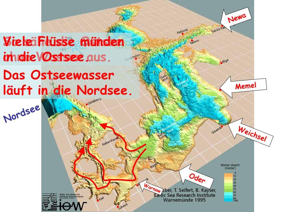Das Ostseewasser läuft in die Nordsee.