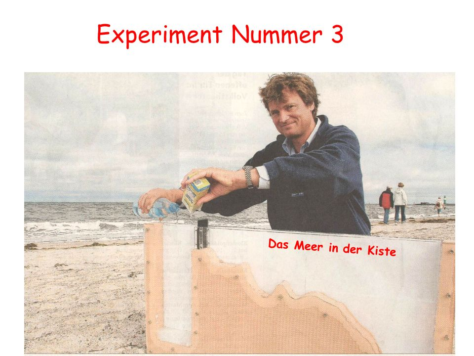 Experiment Nummer 3 Die Ostsee Das Meer in der Kiste