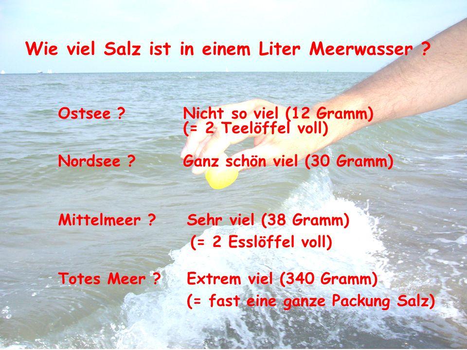 Wie viel Salz ist in einem Liter Meerwasser