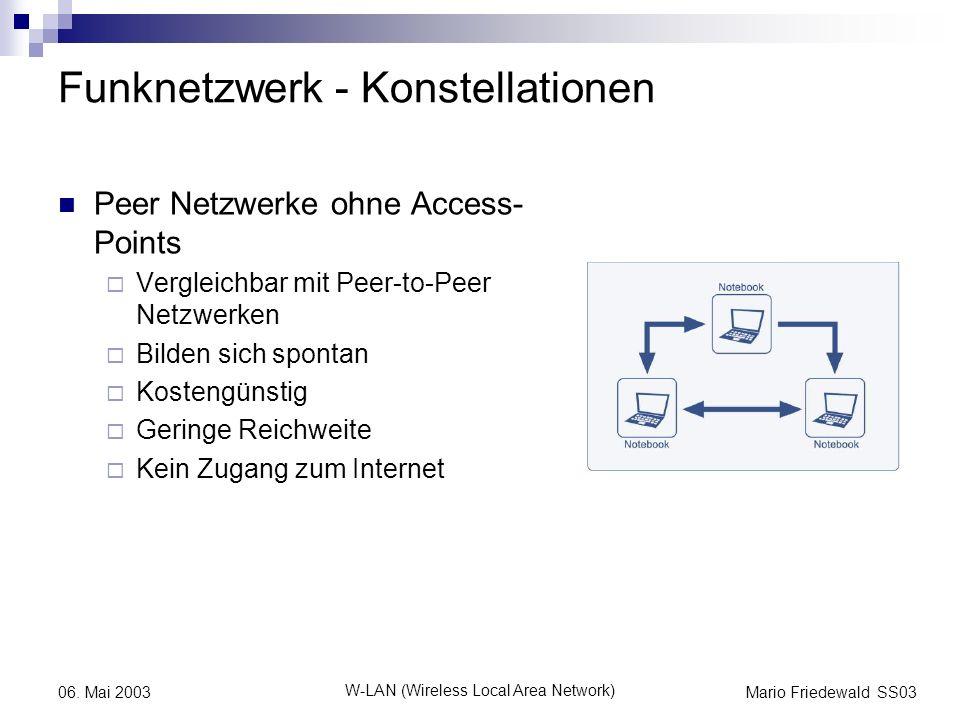 Funknetzwerk - Konstellationen