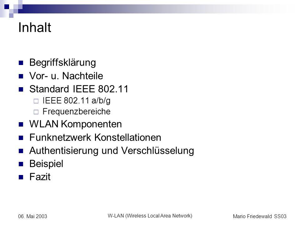 W-LAN (Wireless Local Area Network)