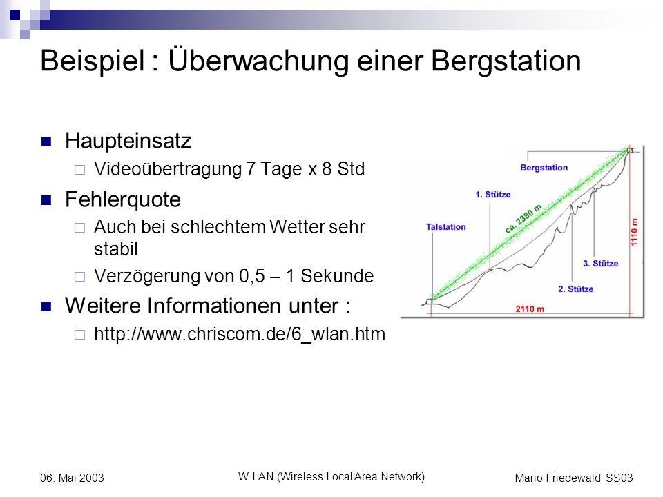 Beispiel : Überwachung einer Bergstation