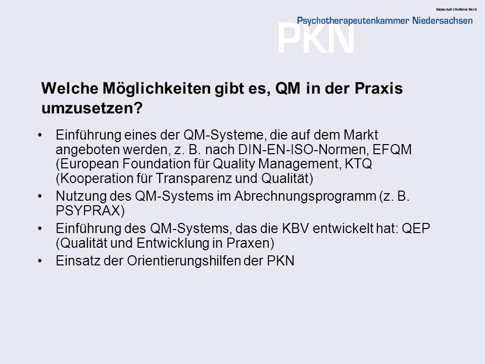 Welche Möglichkeiten gibt es, QM in der Praxis umzusetzen