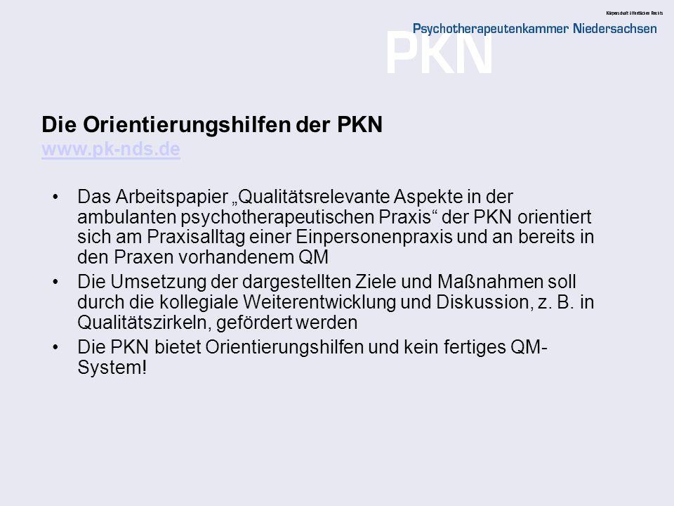 Die Orientierungshilfen der PKN www.pk-nds.de