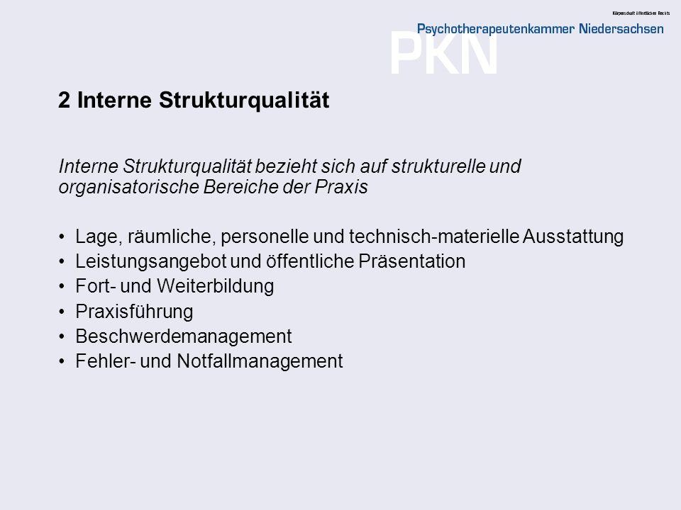 2 Interne Strukturqualität