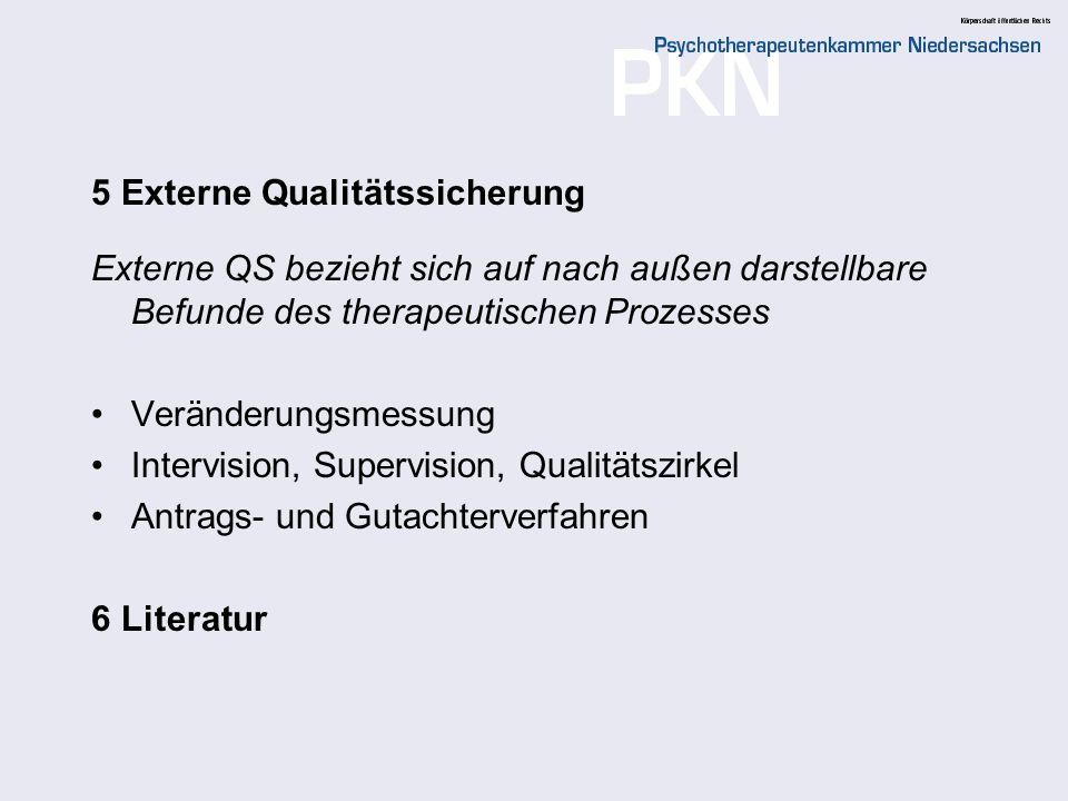 5 Externe Qualitätssicherung
