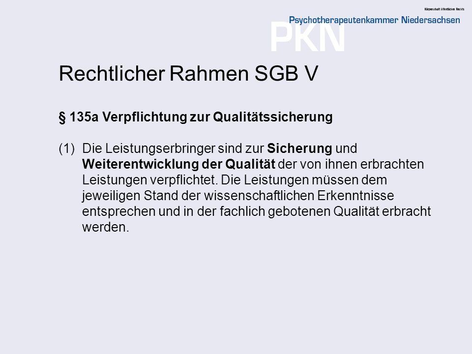 Rechtlicher Rahmen SGB V