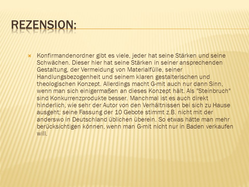 Rezension: