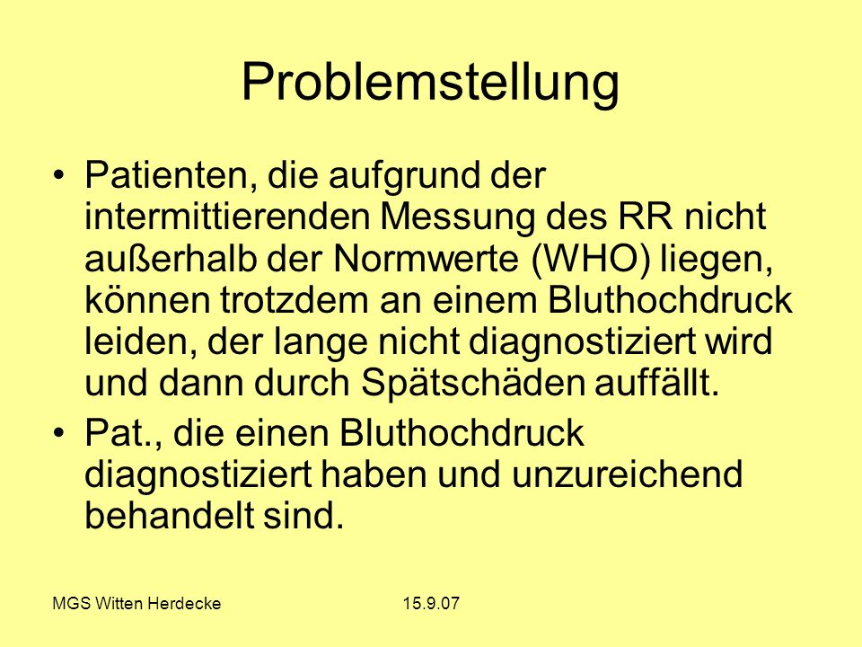 Problemstellung
