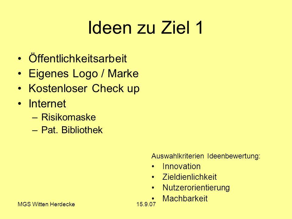 Ideen zu Ziel 1 Öffentlichkeitsarbeit Eigenes Logo / Marke