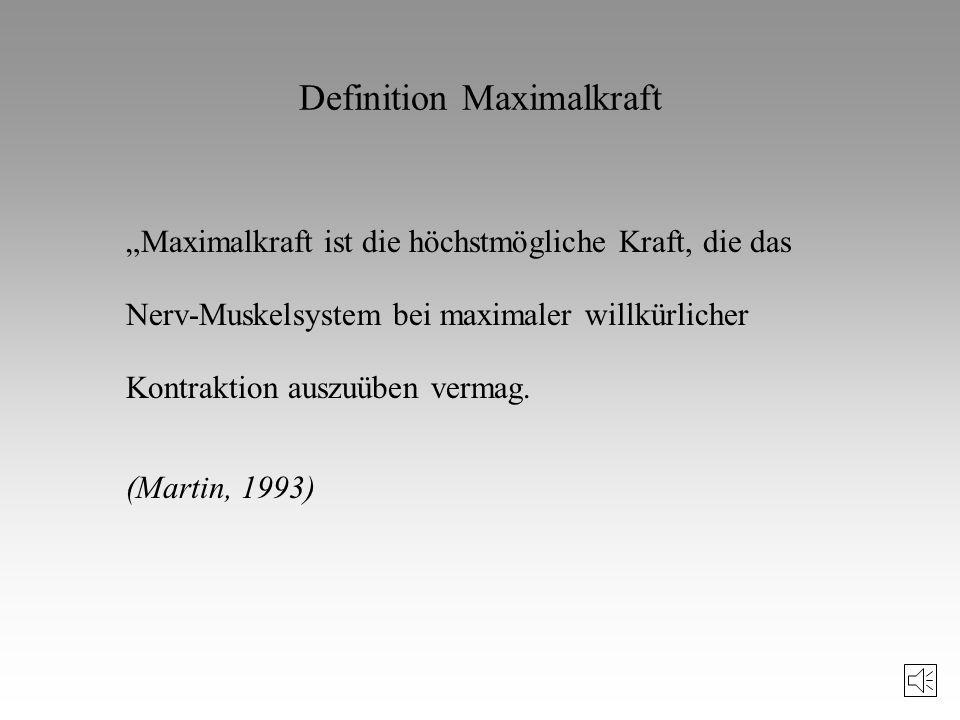 Definition Maximalkraft