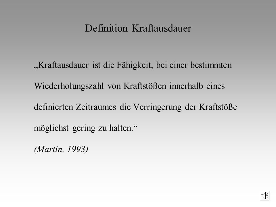 Definition Kraftausdauer