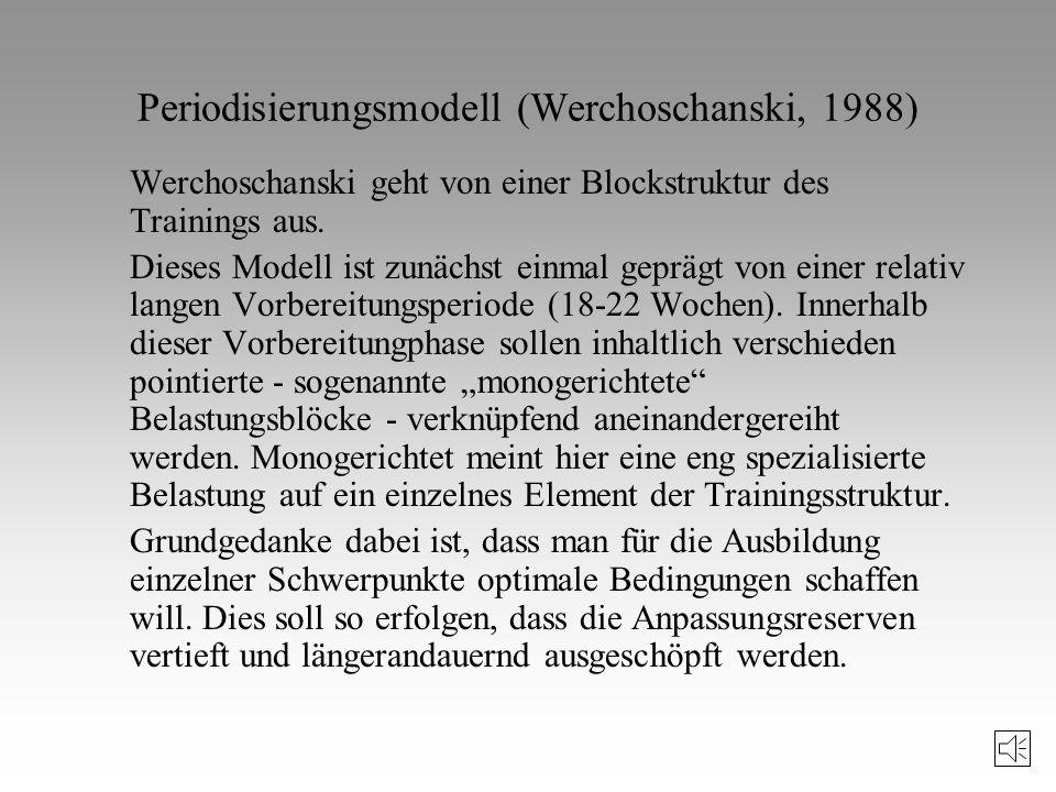 Periodisierungsmodell (Werchoschanski, 1988)