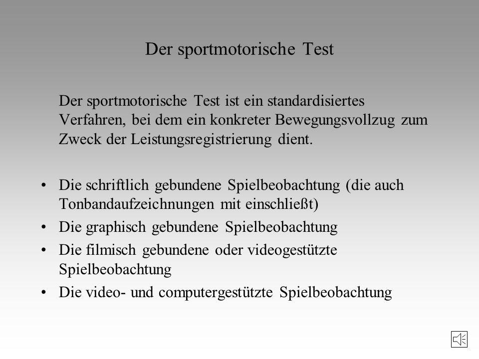 Der sportmotorische Test