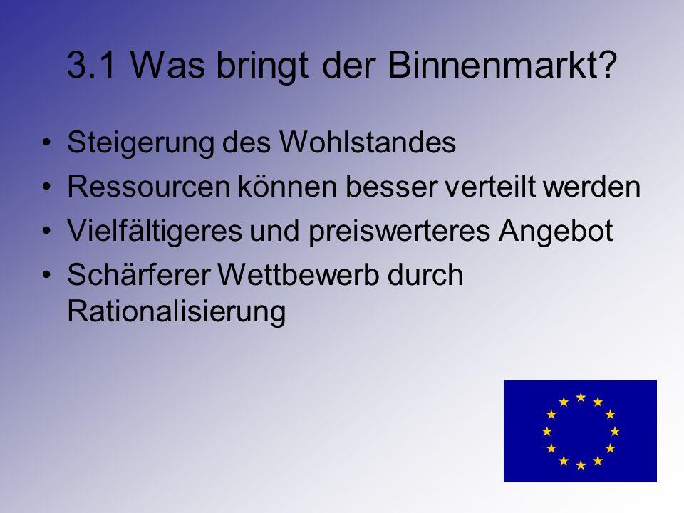 3.1 Was bringt der Binnenmarkt