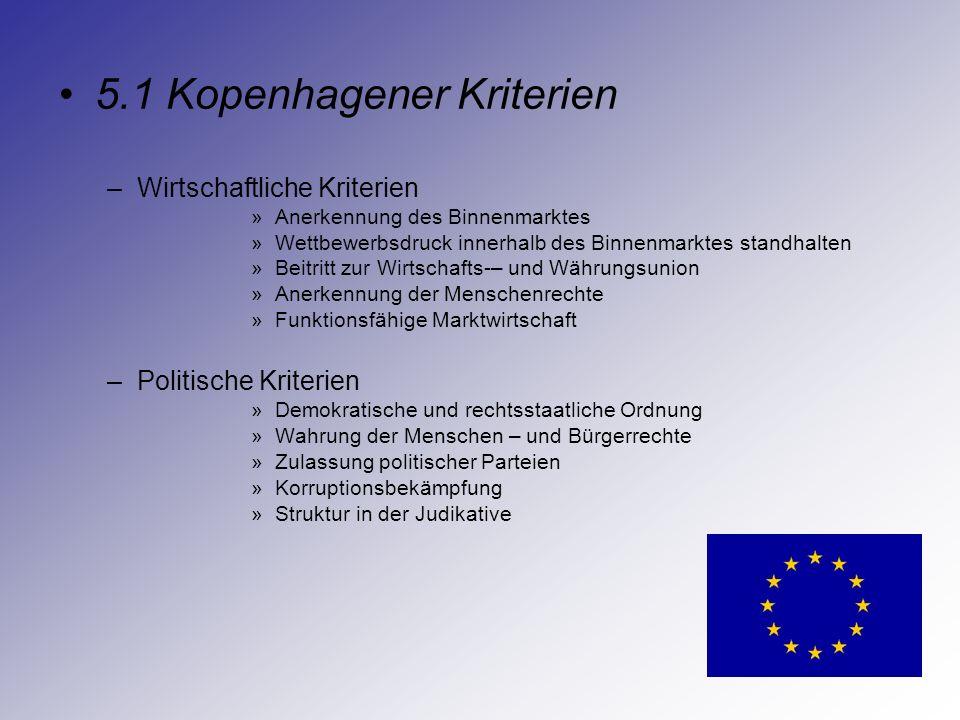 5.1 Kopenhagener Kriterien