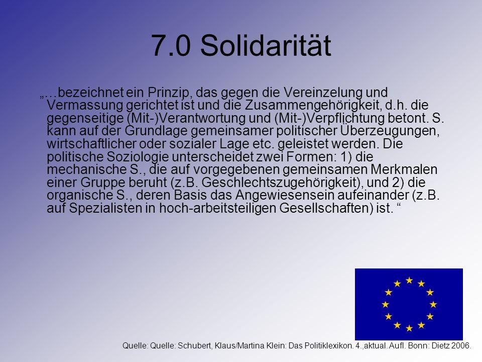 7.0 Solidarität