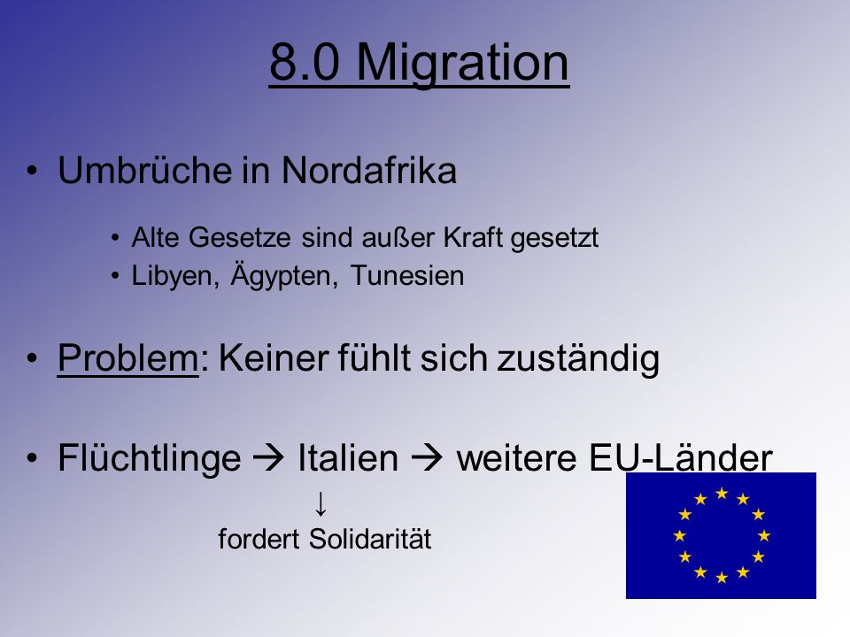 8.0 Migration Umbrüche in Nordafrika
