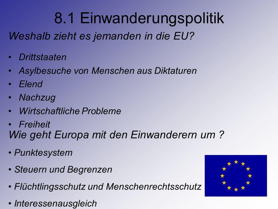 8.1 Einwanderungspolitik