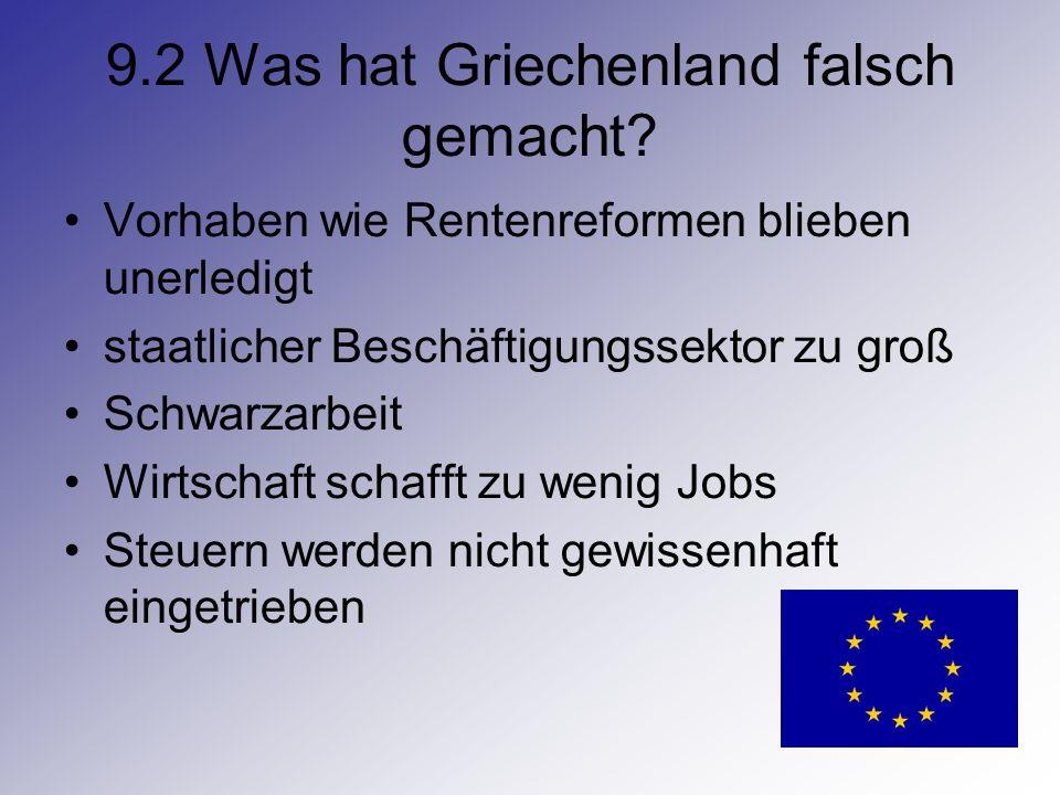 9.2 Was hat Griechenland falsch gemacht