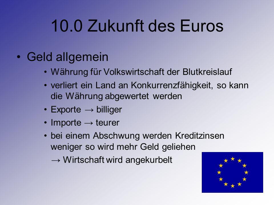 10.0 Zukunft des Euros Geld allgemein