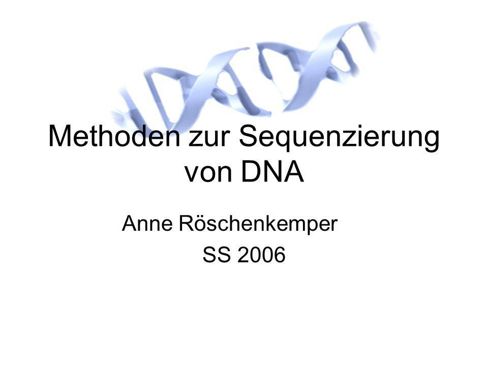 Methoden zur Sequenzierung von DNA