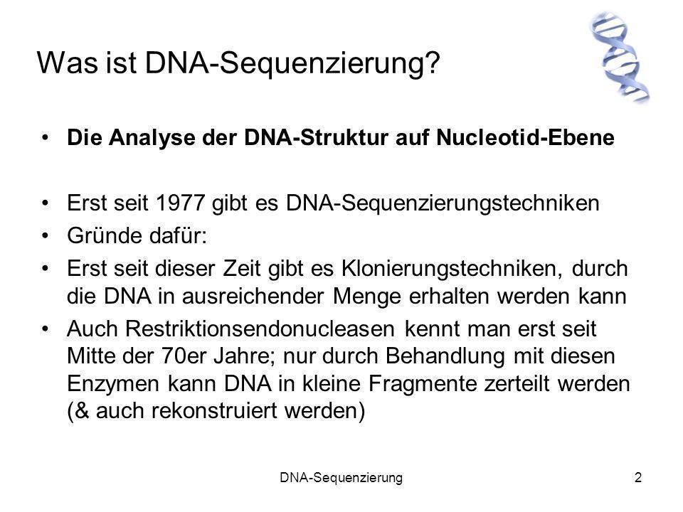 Was ist DNA-Sequenzierung