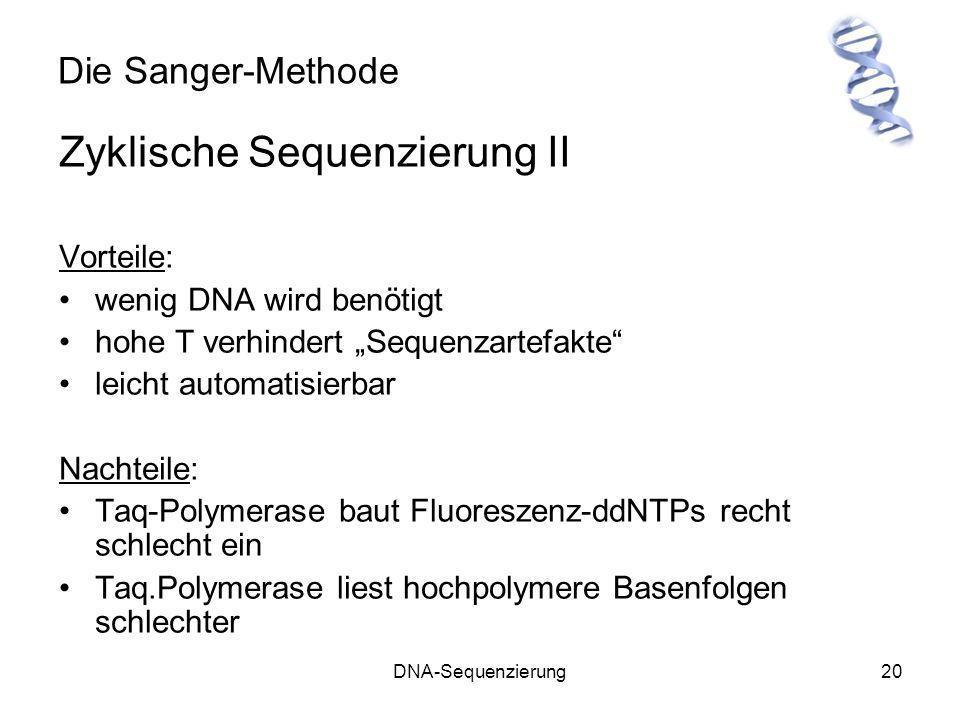 Zyklische Sequenzierung II