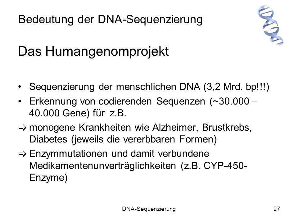 Bedeutung der DNA-Sequenzierung