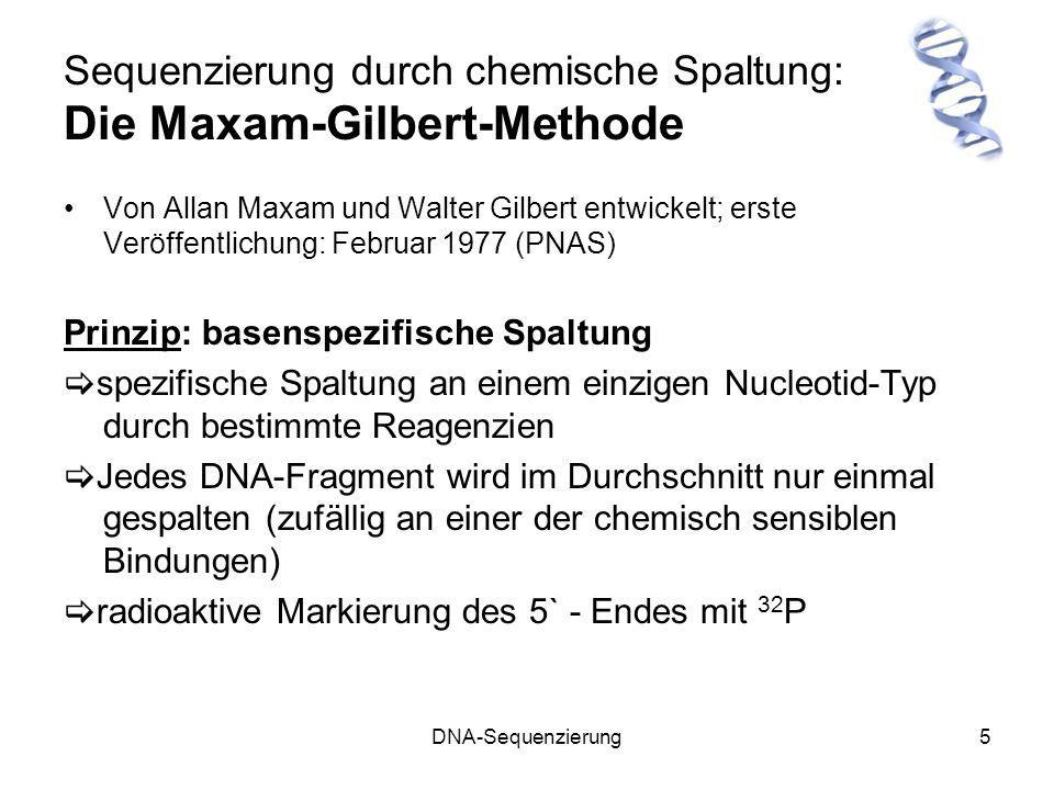 Sequenzierung durch chemische Spaltung: Die Maxam-Gilbert-Methode