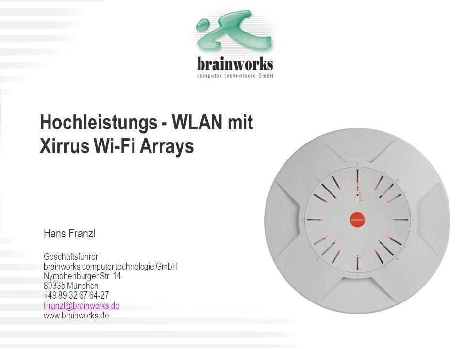 Hochleistungs - WLAN mit Xirrus Wi-Fi Arrays