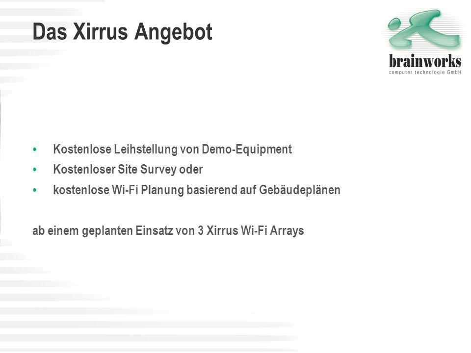 Das Xirrus Angebot Kostenlose Leihstellung von Demo-Equipment