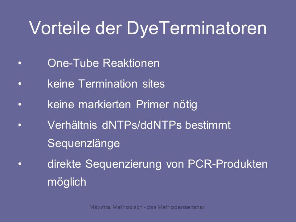 Vorteile der DyeTerminatoren