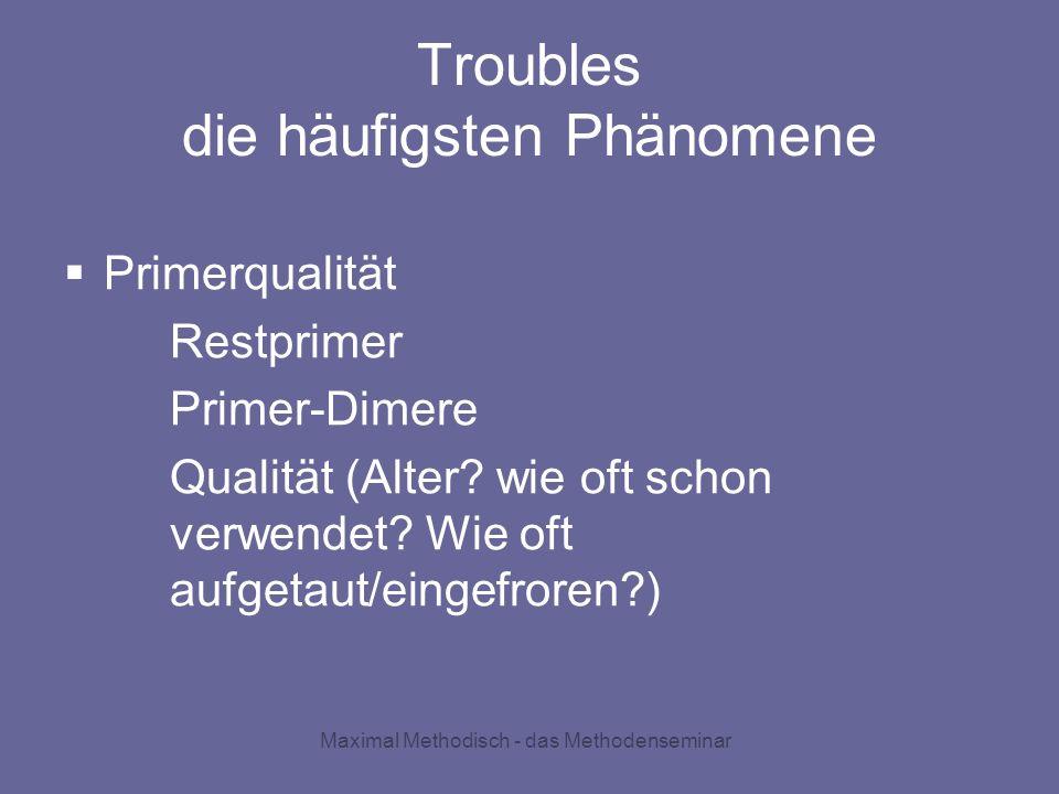 Troubles die häufigsten Phänomene
