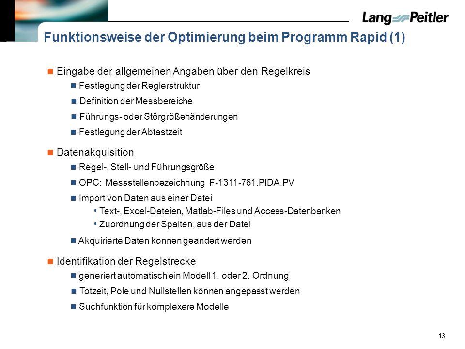 Funktionsweise der Optimierung beim Programm Rapid (1)