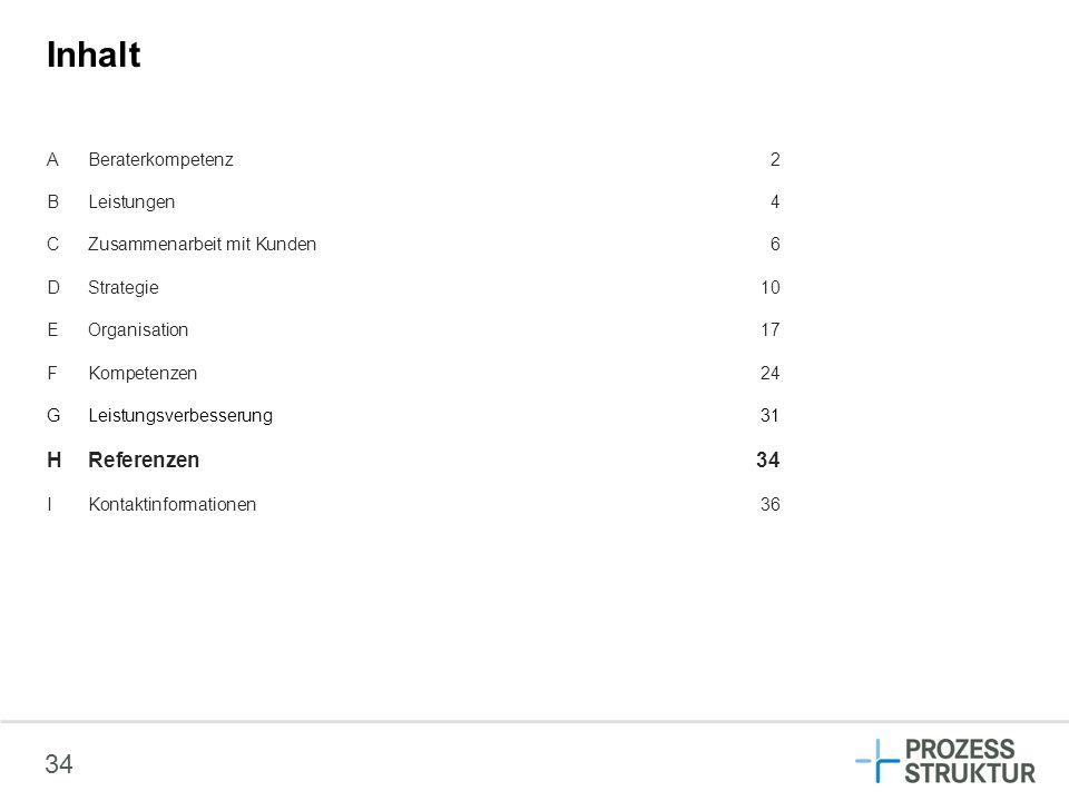 Inhalt H Referenzen 34 A Beraterkompetenz 2 B Leistungen 4