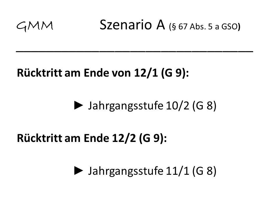 GMM Szenario A (§ 67 Abs. 5 a GSO) _______________________________