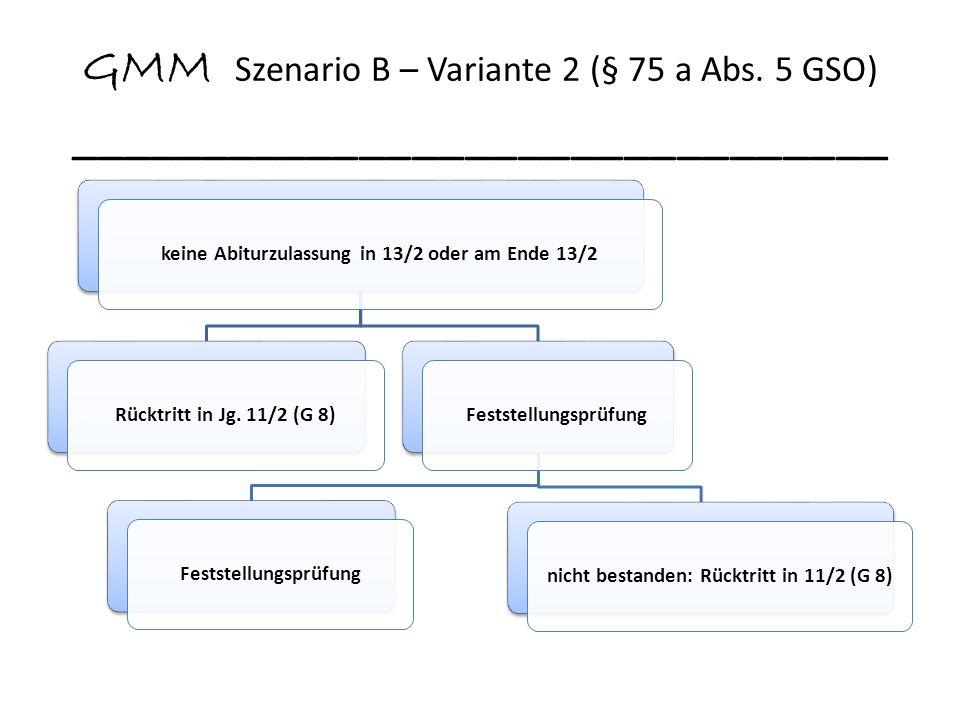 GMM Szenario B – Variante 2 (§ 75 a Abs