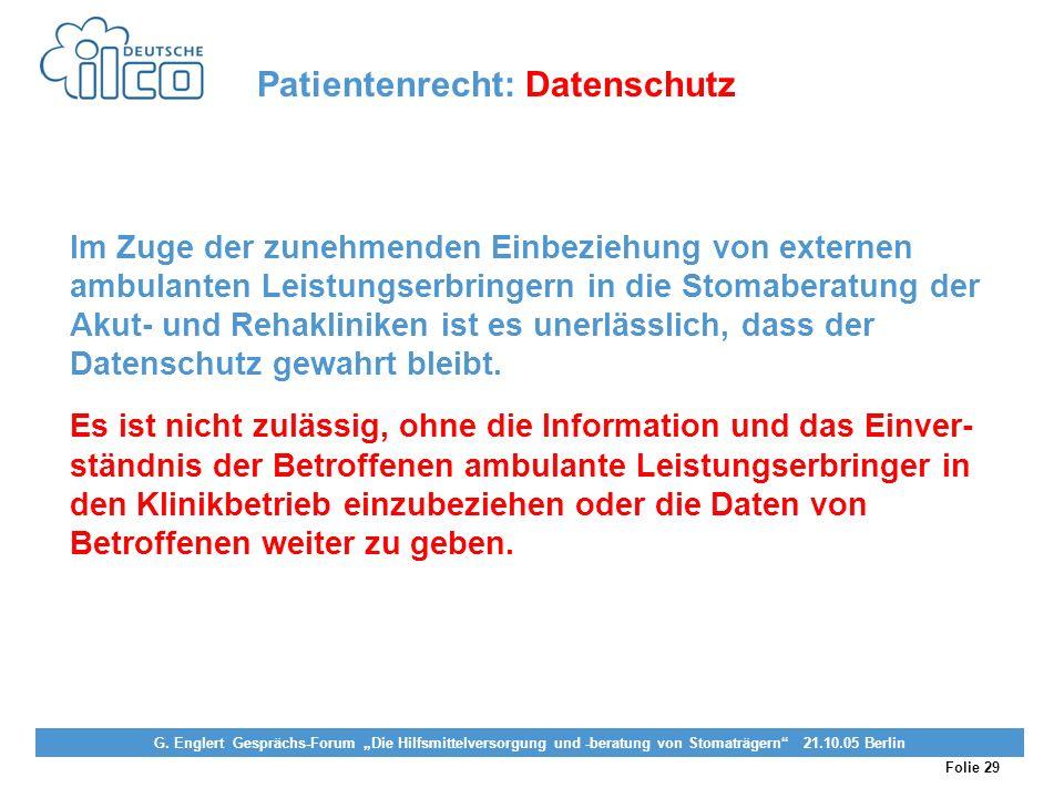 Patientenrecht: Datenschutz