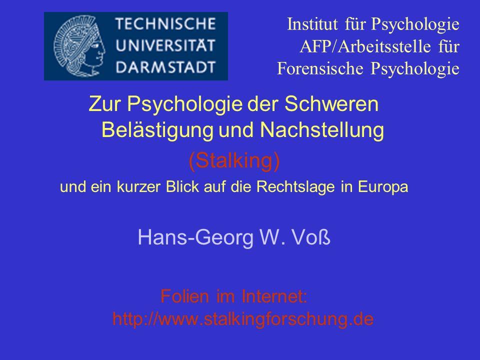 Institut für Psychologie AFP/Arbeitsstelle für Forensische Psychologie