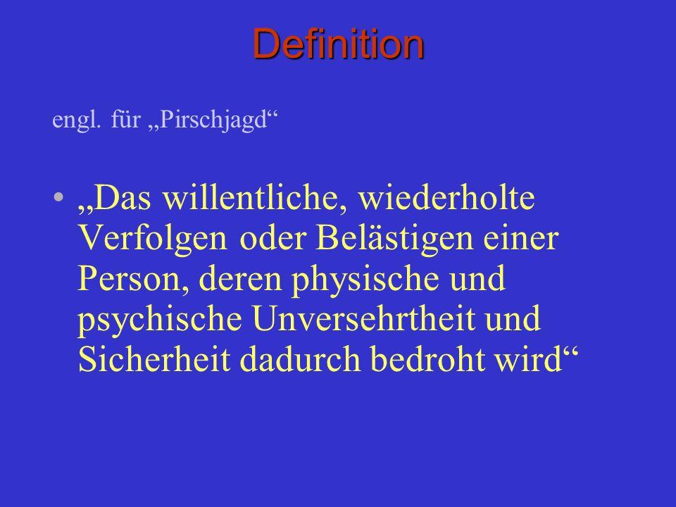"""Definitionengl. für """"Pirschjagd"""