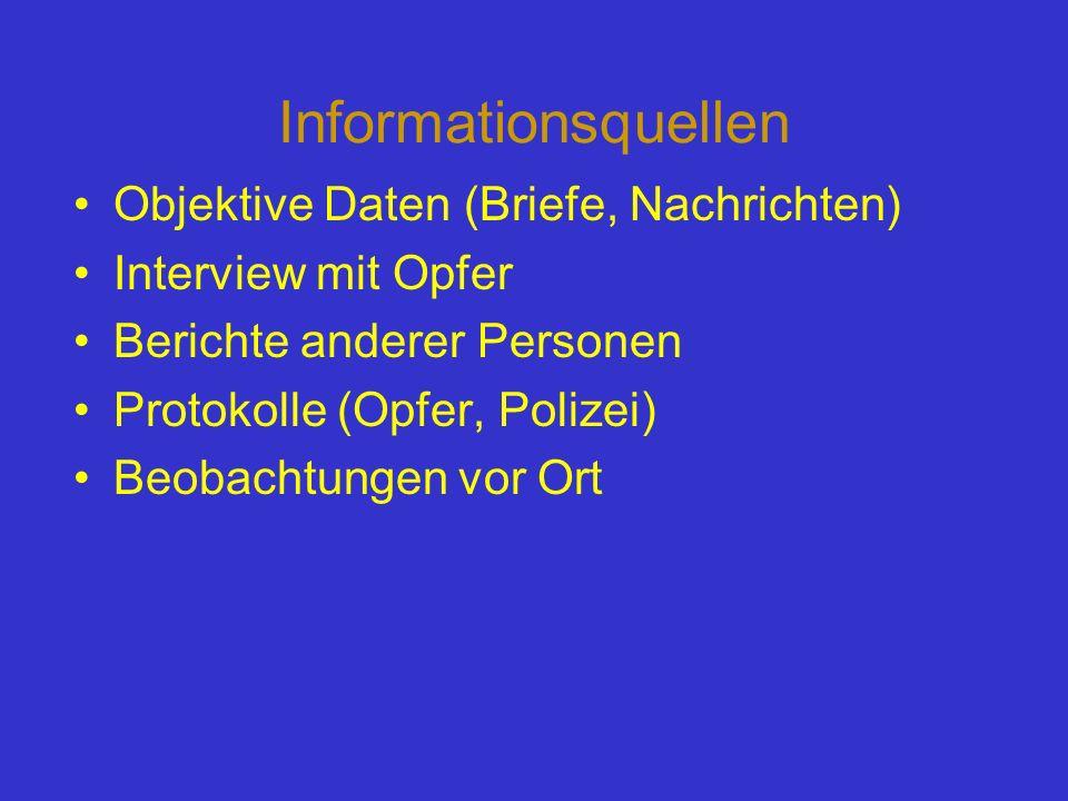 Informationsquellen Objektive Daten (Briefe, Nachrichten)