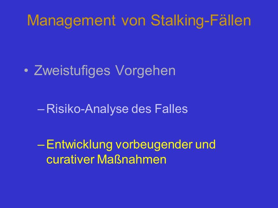 Management von Stalking-Fällen