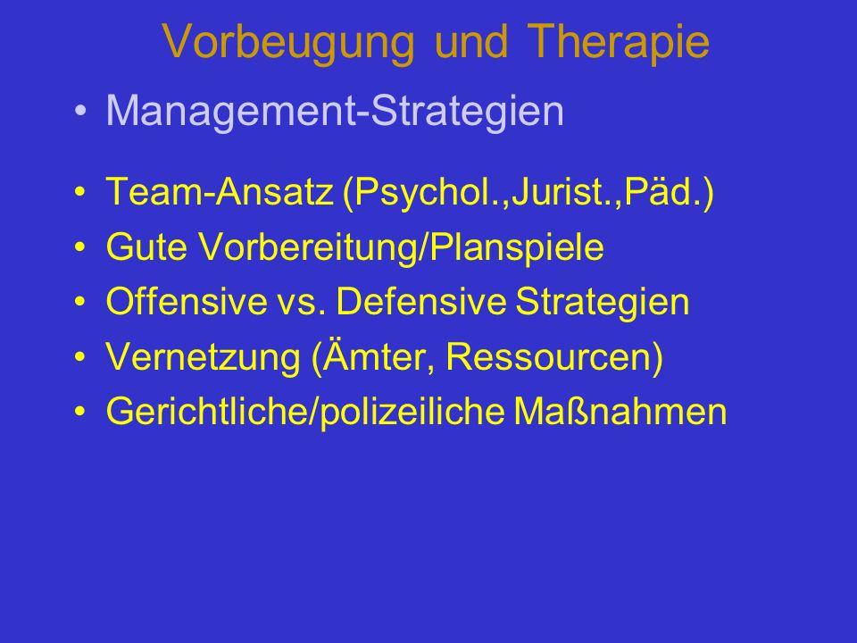 Vorbeugung und Therapie