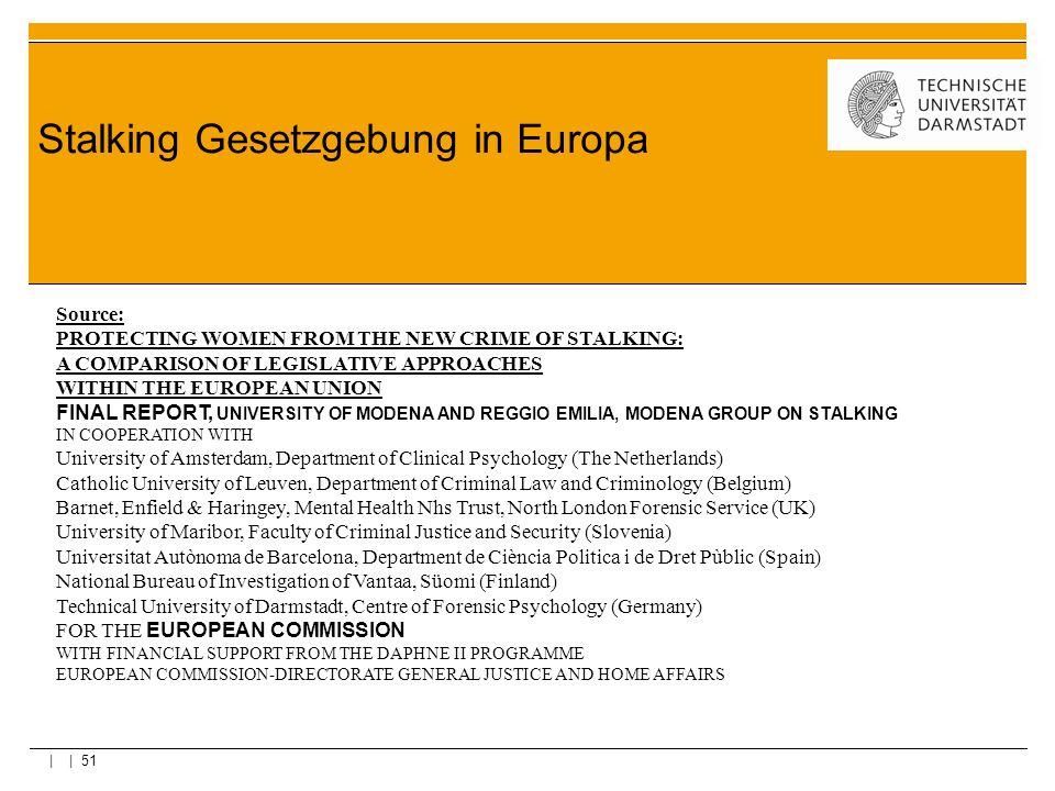 Stalking Gesetzgebung in Europa