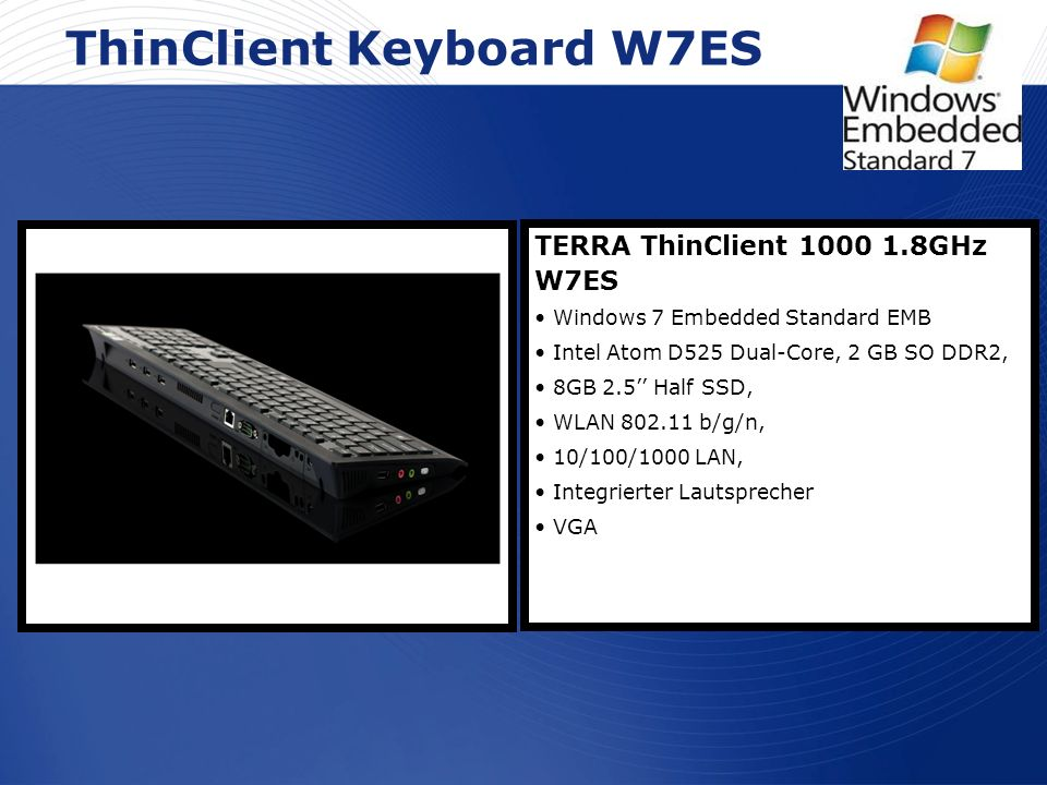 ThinClient Keyboard W7ES