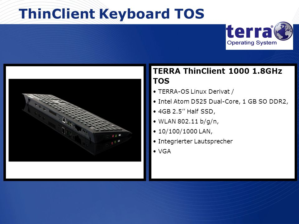 ThinClient Keyboard TOS
